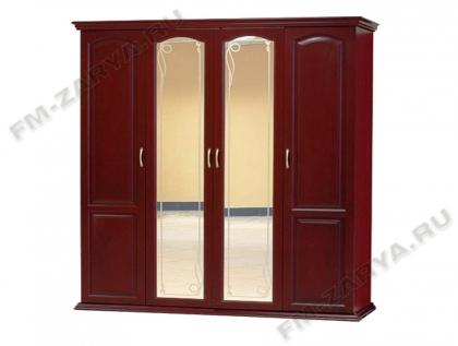 Шкаф 4-х створчатый с багетом и зеркалом