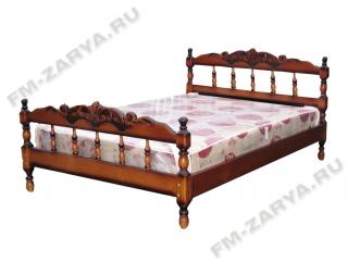 Кровать ТОЧЕНКА резьба по верху